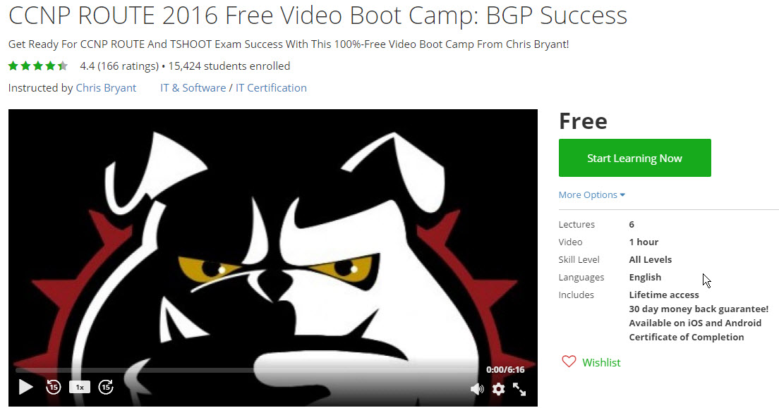 Free CCNP ROUTE BGP Course