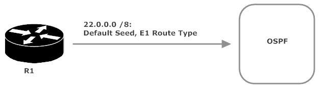 Route Type Set To E1, Default Seed Metric Used