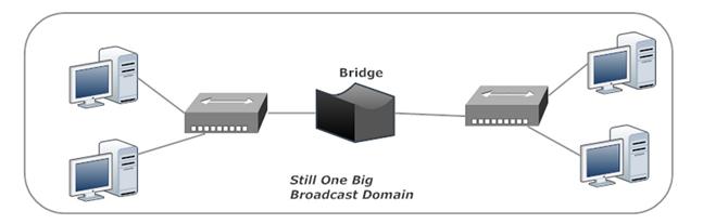Bridges Do Not Break Up Collision Domains